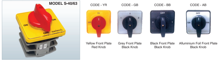 Instrumentation Selector Switches